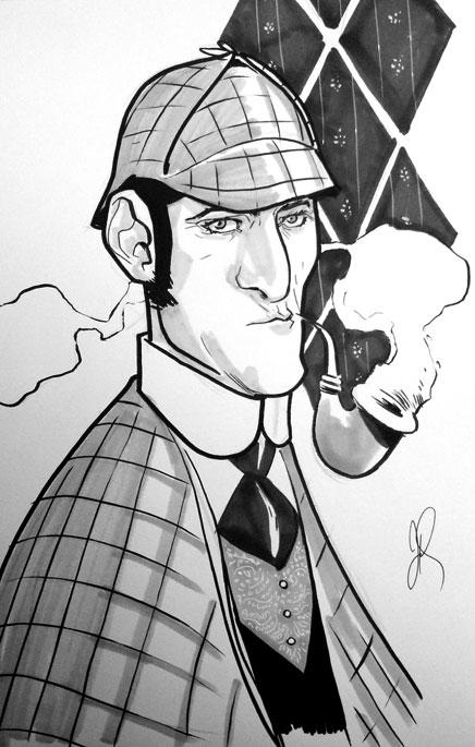 Free Comic Book Day Sketch - Sherlock Holmes by joshhood