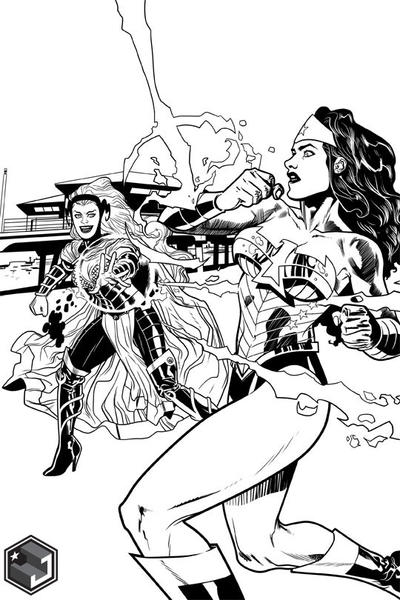 Wonder Woman v. Circe 14 by joshhood