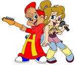 Alvin and Brittany Jammin'