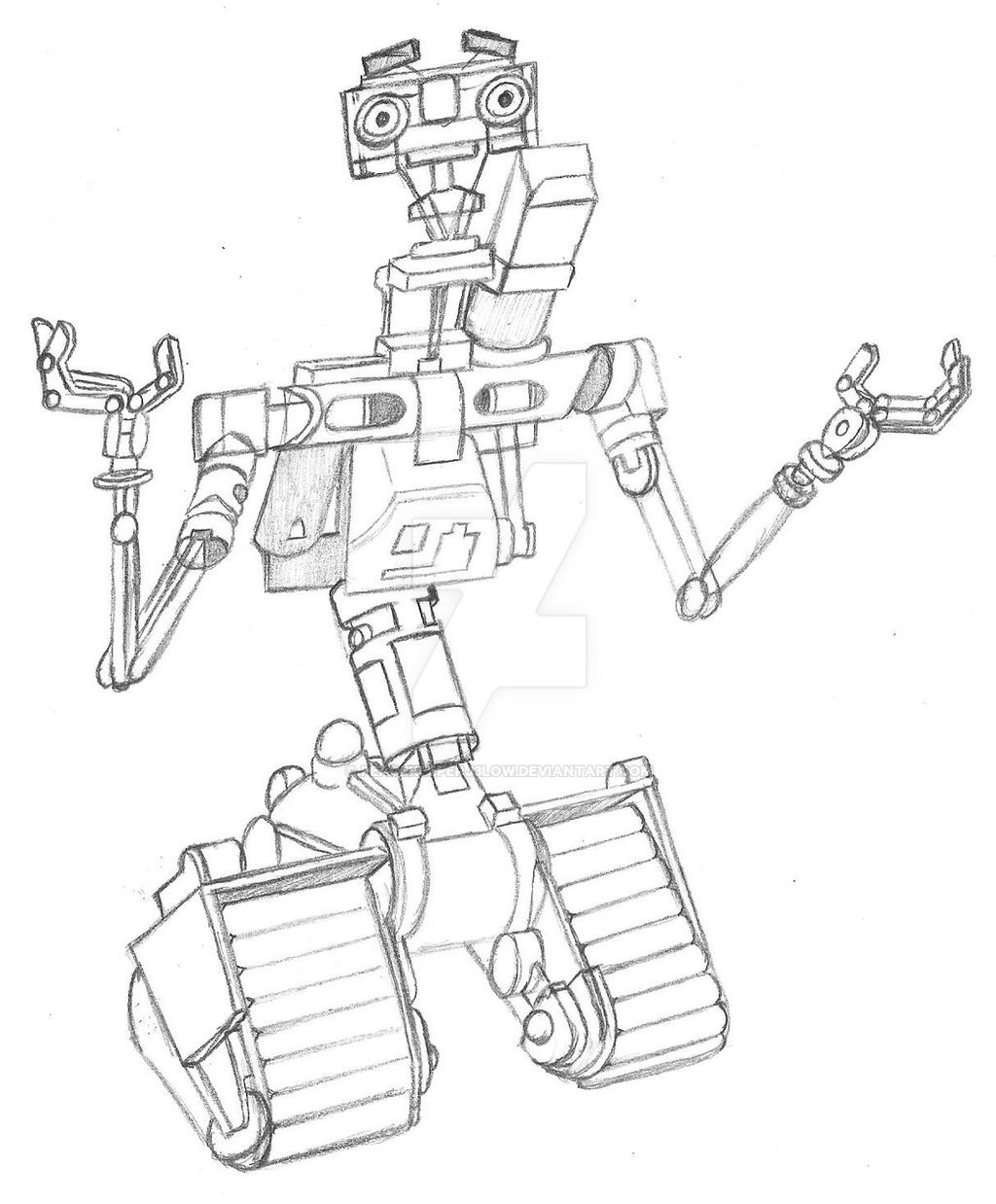 johnny 5  sketch  by peacekeeperj3low on deviantart