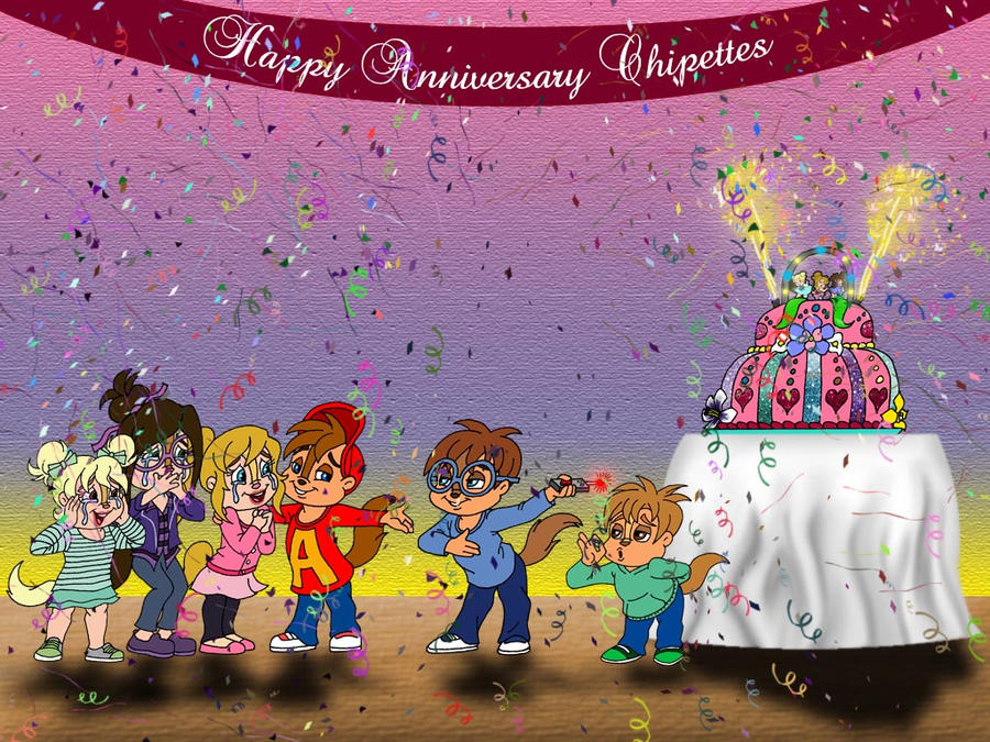 The Chipettes Anniversary By Peacekeeperj3low On DeviantArt