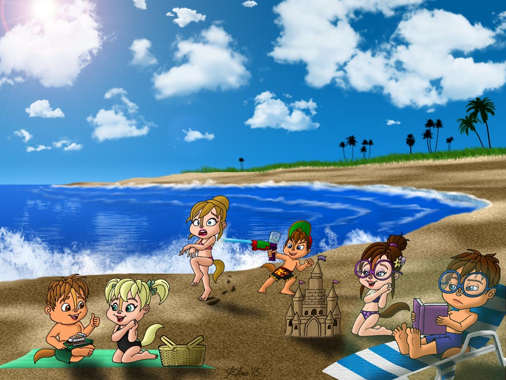 Alvinnn And The Chipmunks Brittany And Alvin day at the beachpeacekeeperj3low on deviantart