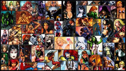 Women of Comics Wallpaper by Helixwolf