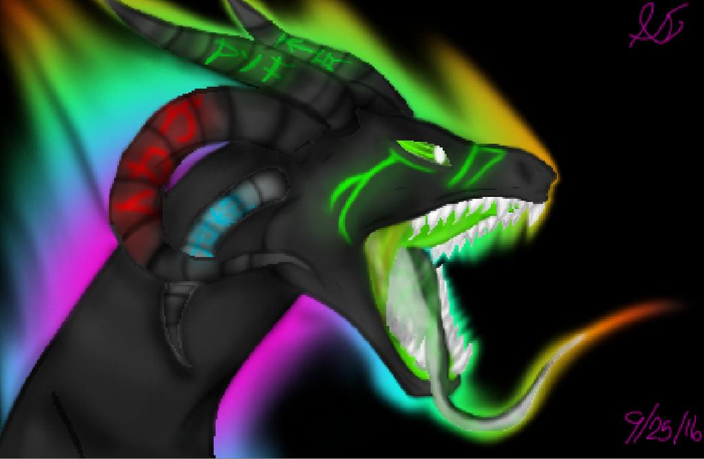 Taste the rainbow Anti dragon by AlexandraInsanity