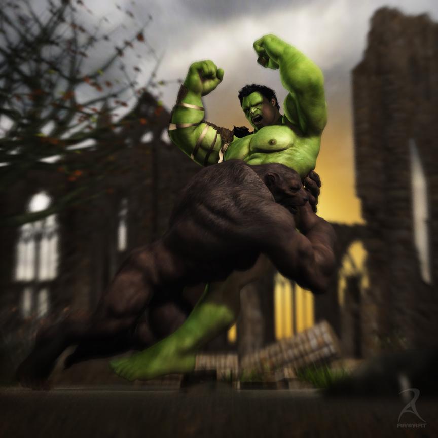 Hulk vs Lycan by RawArt3d on DeviantArt
