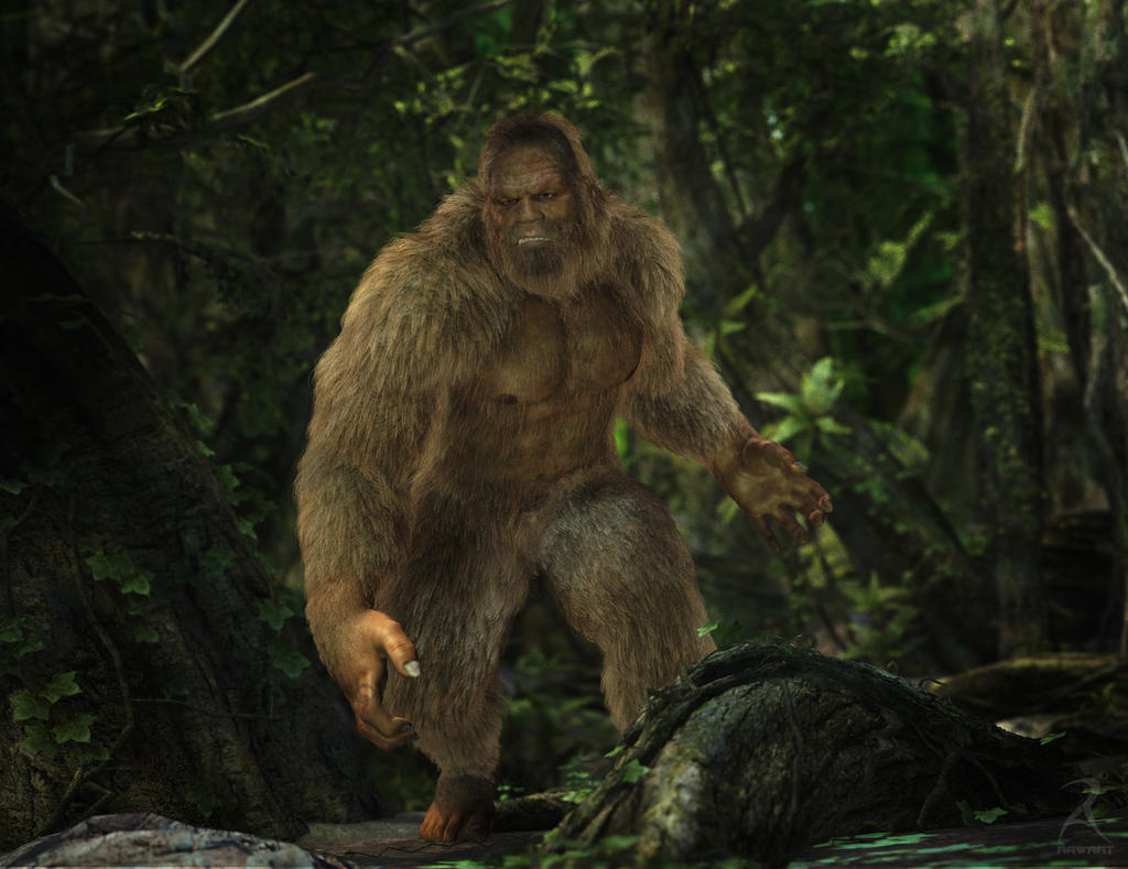 Sasquatch by RawArt with Look At My Hair (LAMH) for DAZ 3D