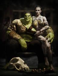 Hulk and Caiera by RawArt3d