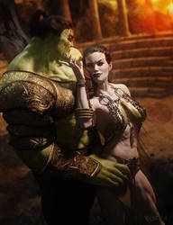 Hulk and Caiera 2 by RawArt3d