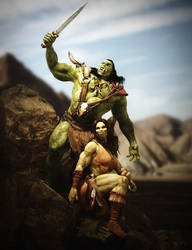 Orc Warriors by RawArt3d