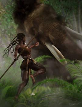 Mammoth fight