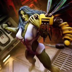 She Hulk - Drone Attack