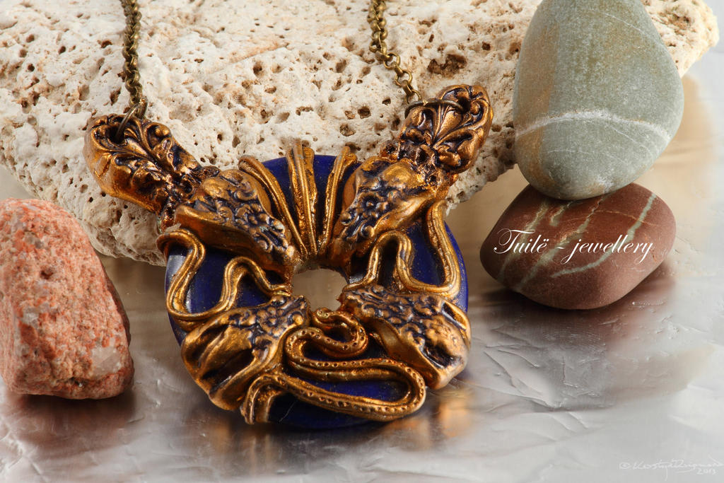 Sea Serpent details by Tuile-jewellery