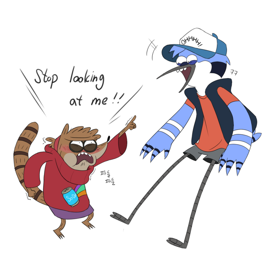 Mordecai and Rigby by FlowersIMH