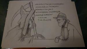 Terry Pratchett by czarnobialokolorowa