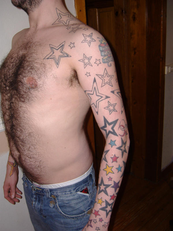 star sleeve - sleeve tattoo