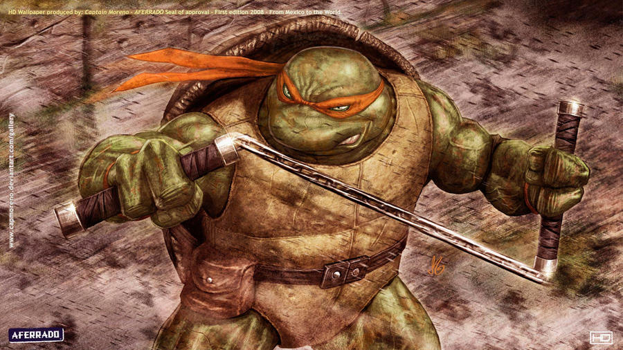 TMNT MICHAELANGELO HD WP by CapMoreno