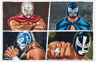 Luchadores by CapMoreno