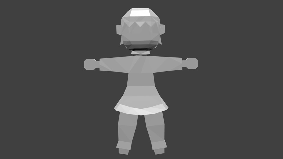 low poly kid 2 by herio