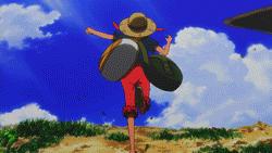 Luffy's epic jump by NichtVOBLA