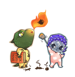 Commission Baby Pectus and Iosen by MiniLeiProductions