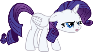 Rarity hates being an Alicorn