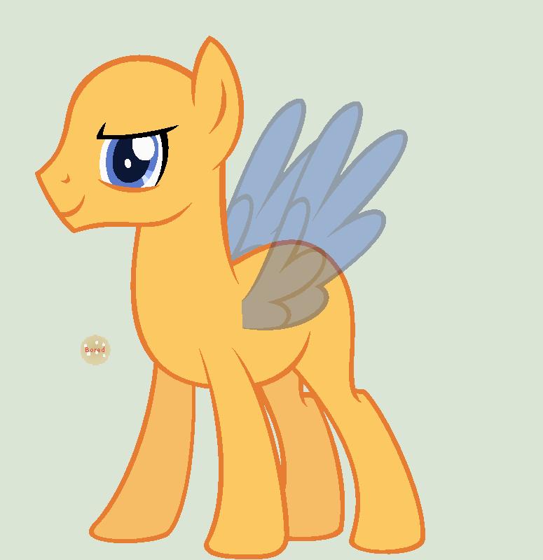My little pony colt base