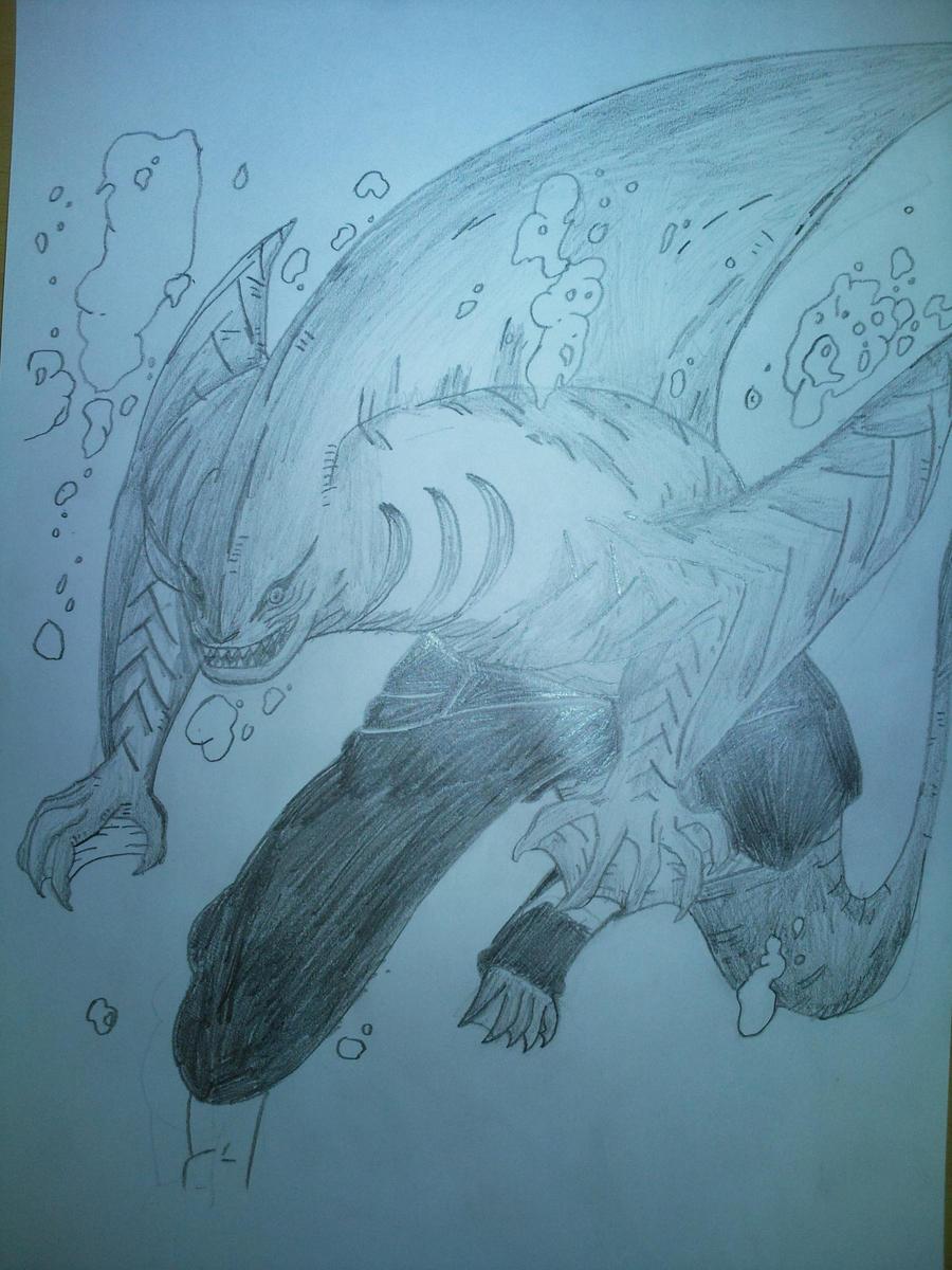 Kisame Hoshigaki - Shark Mode by h0rnetsan on DeviantArt