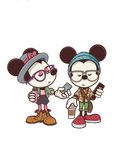 Mickey and Minnie Hipsters (PNG 2)