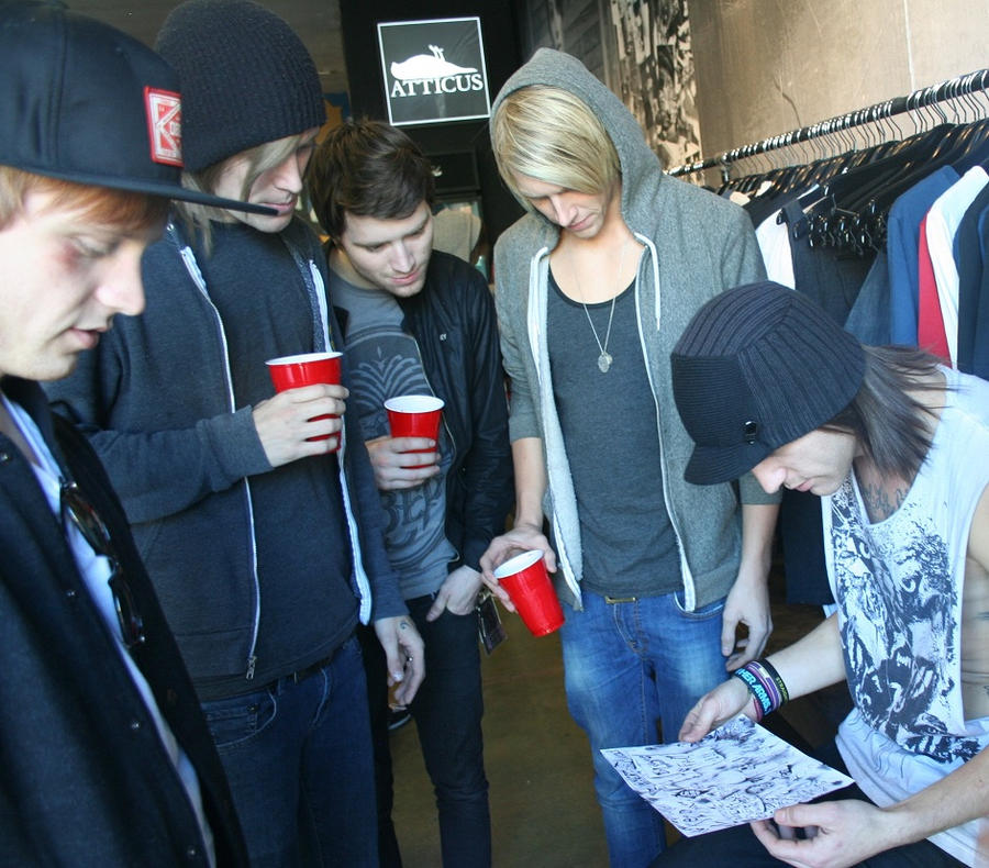 BTF Lookin' at MY DRAWING by MissionComplete
