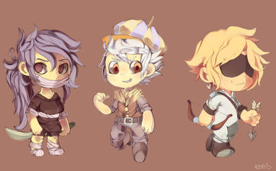 Azure Lorica Mascots by MissionComplete