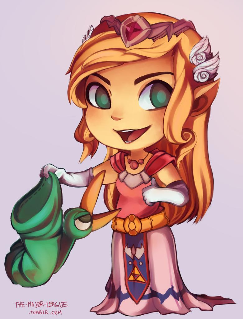 Legend of Zelda: The Minish Cap - Princess Zelda by MissionComplete