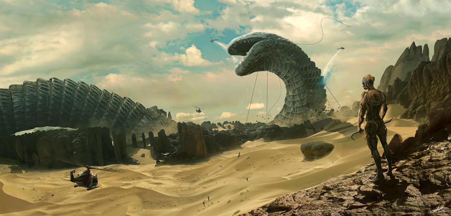 Shai-Hulud and the God Emperor by ErikShoemaker