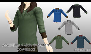 MMD Sims 4 Male Sweaters + DL