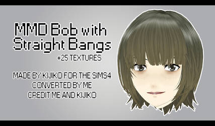MMD - Watchers Gift - Bob with Straight Bangs + DL