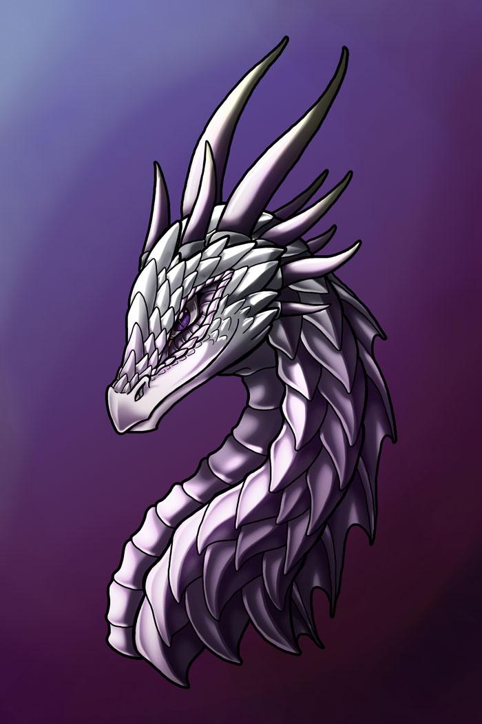 Anya's dragon form - face by Wazaga