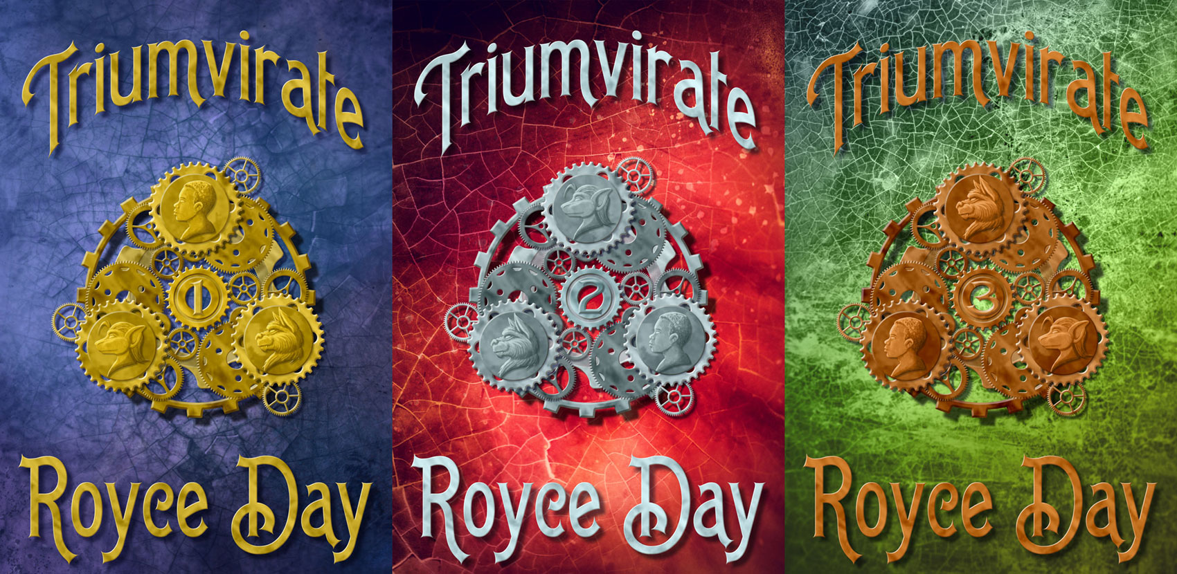 Triumvirate Trilogy - bookcovers