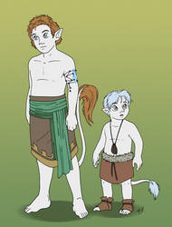 Gale and child Auron