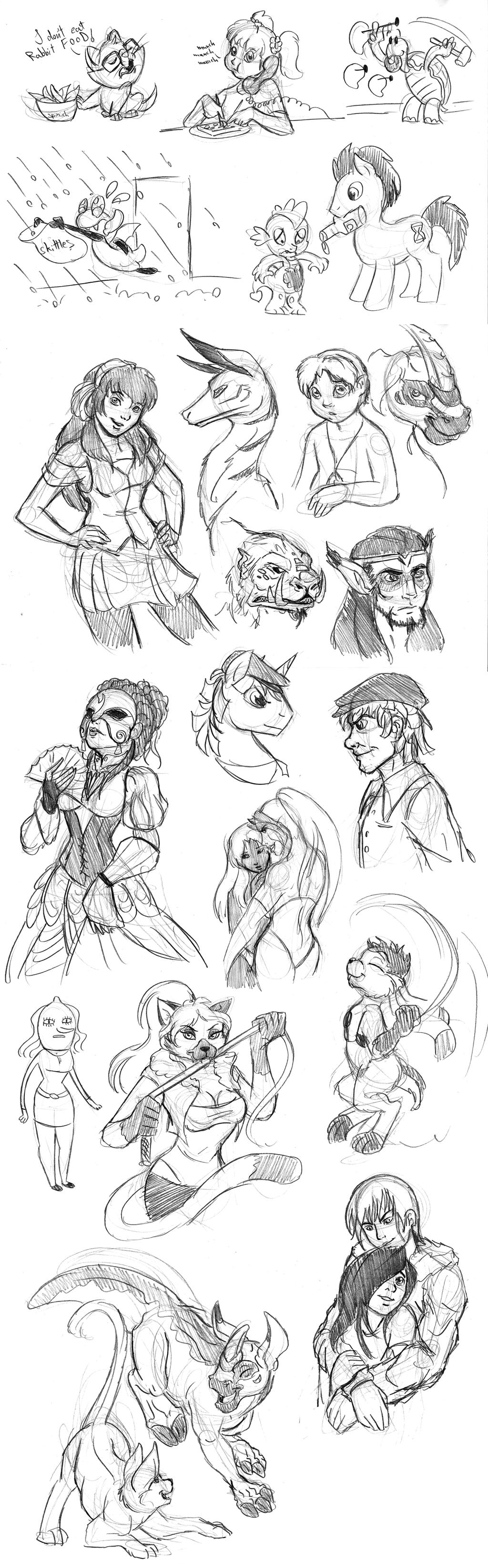 Livestream Sketch Requests - 07 by Wazaga
