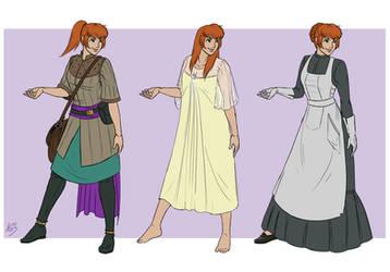 Ever Hollow - Riana Outfits by Wazaga