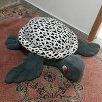 Black and white turtle pillow plush