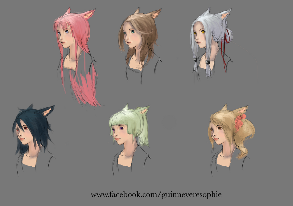 Hairstyle Design By Romille On DeviantArt - Hairstyle design contest ffxiv