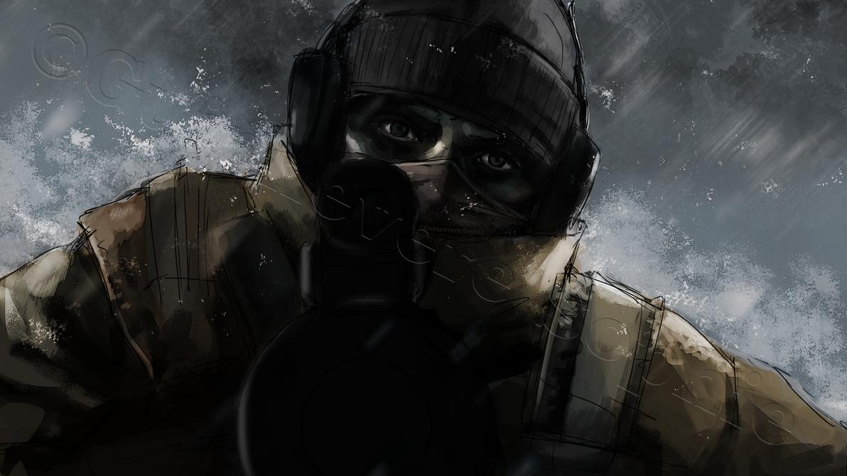 Soldier Video Games Rainbowsix Siege Digital Art Dark: Glaz-Rainbow-Six-Siege By Romille On DeviantArt