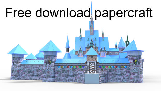 Arendelle Castle Papermodel template free download