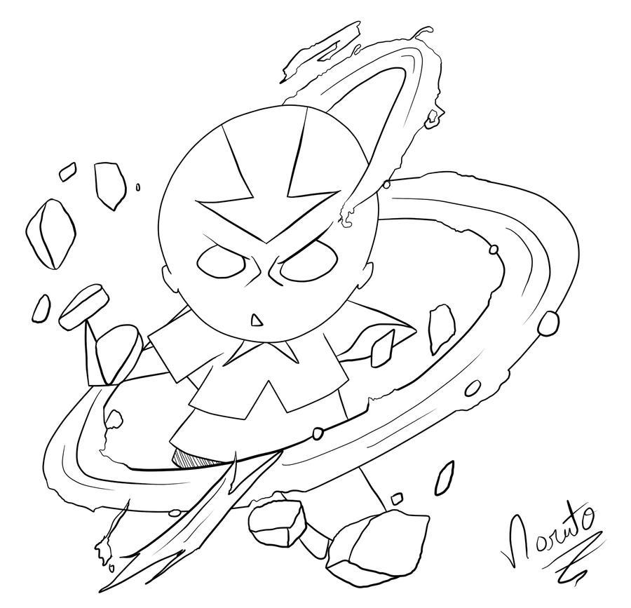 Galeria de desenhos NarutoZ - Página 6 Aang_LineArts_by_naruto_z