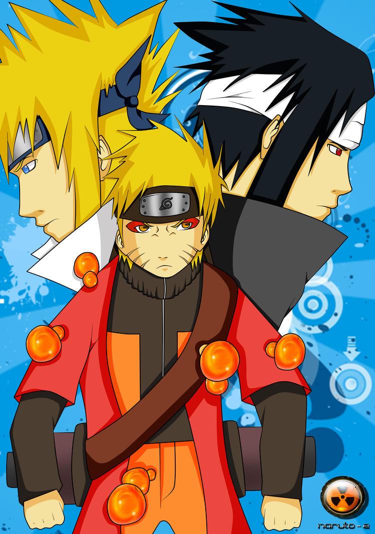 Naruto+Yondaime+Sasuke - Final by naruto-z