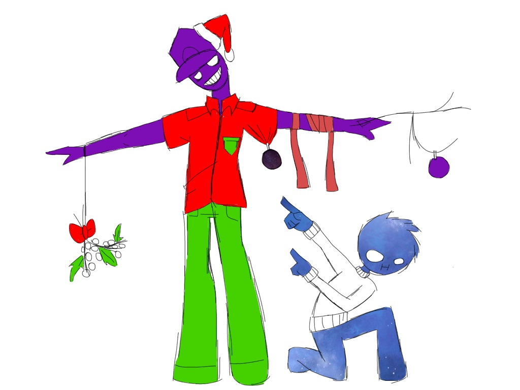 Purple Guy is Gettin Festive by Aguanisa