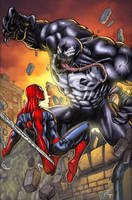 Spiderman Vs Venom II by juan7fernandez
