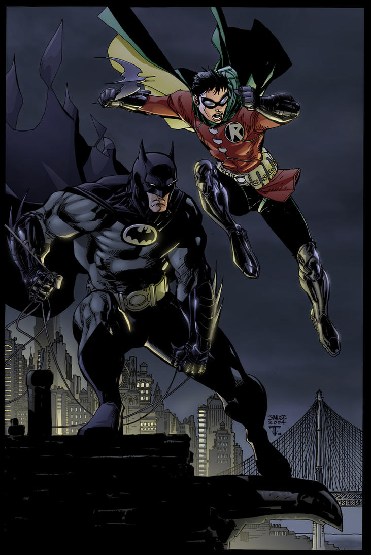 Batman and Robin by Jim Lee by juan7fernandez