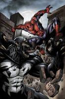 Spiderman vs Venom 3 Doria by juan7fernandez
