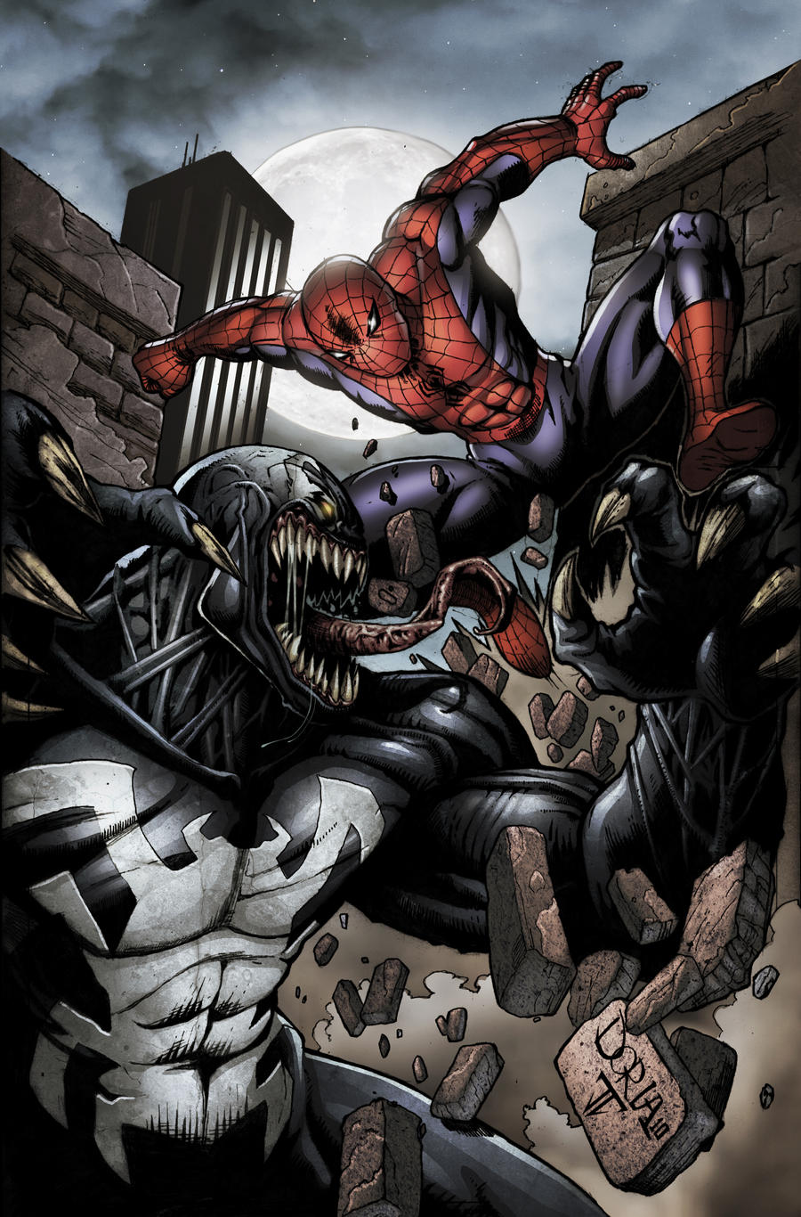 Venom spiderman art - photo#26